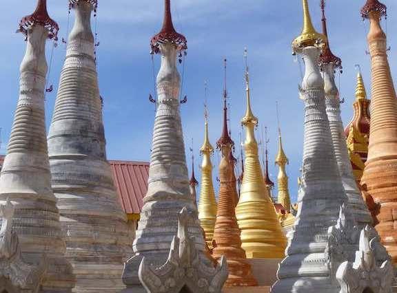 Shwe Inn Tain Pagoda complex – Inle Lake, Myanmar