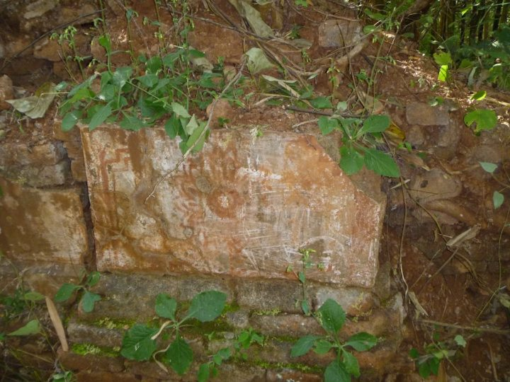 And this painted block is likely ancient
