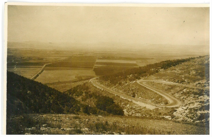 Plains of Jezreel where from the Bible the Jews still believe the decisive battle of the War shall be fought.  Taken from hills by Nazareth.