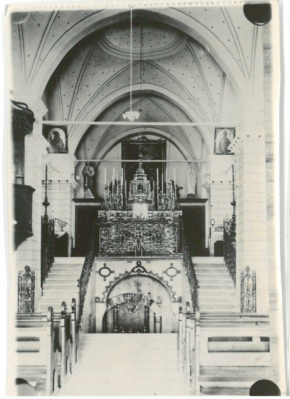 View of Altar - Church of Annunciation - Believe to have been built over caves which formed part of Mary's House - Nazareth