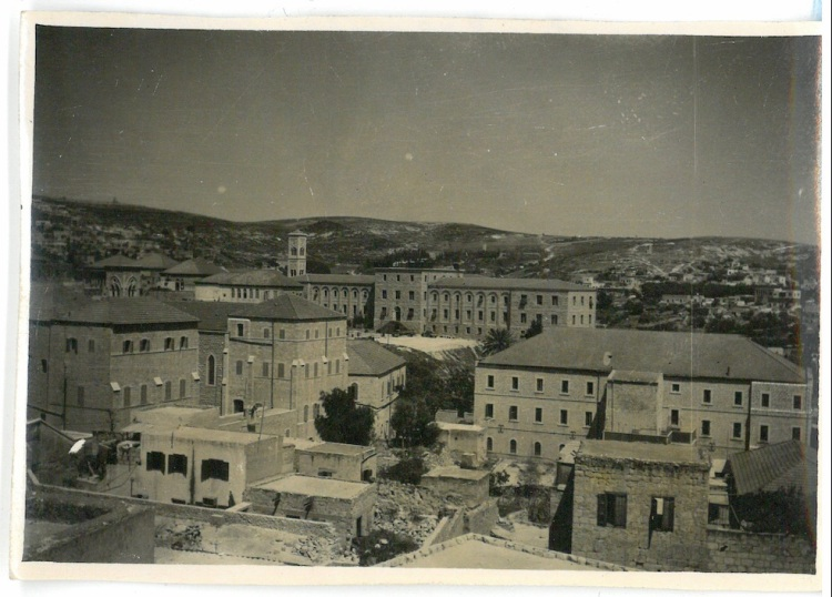 View of Nazareth showing the Franciscan Monastery in the background - Nazareth