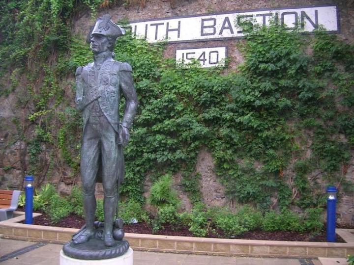 South Bastion Wall and Lord Nelson statue