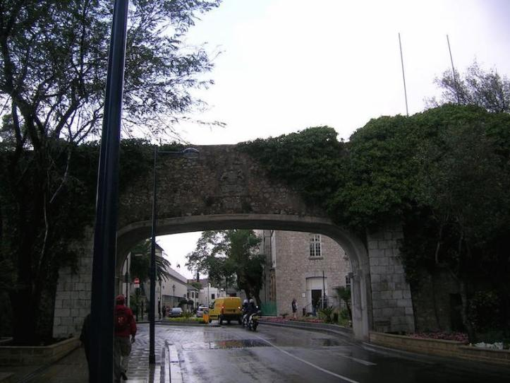 Archway over the road near the cemetery