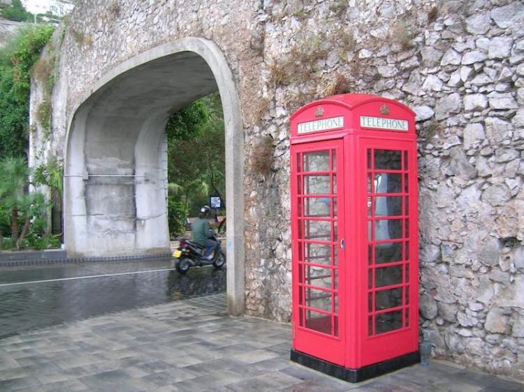 A very red British phone box
