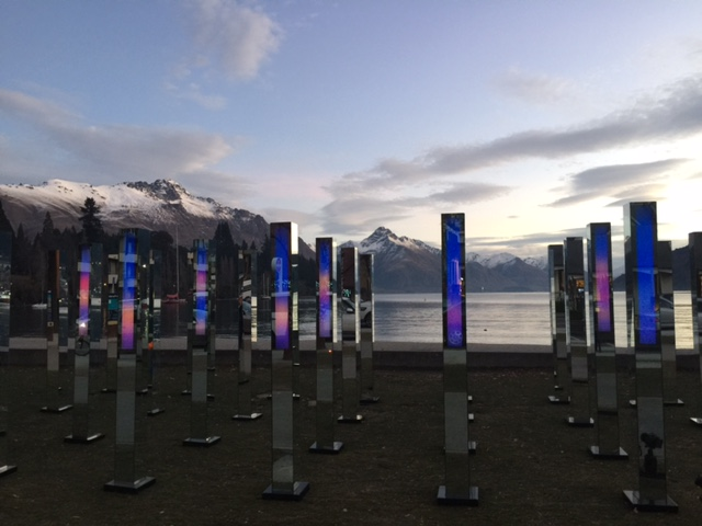 FIELD by Angus Muir Design and AJ Design Co.  28 mirrored posts, 2.4m tall over 25 square metres.