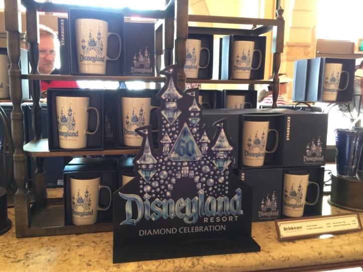 Display of the Starbucks mugs