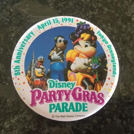 Tokyo Disneyland Party Gras Parade Badge