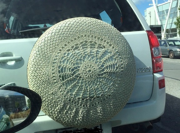 Crocheted Car Spare Wheel Cover