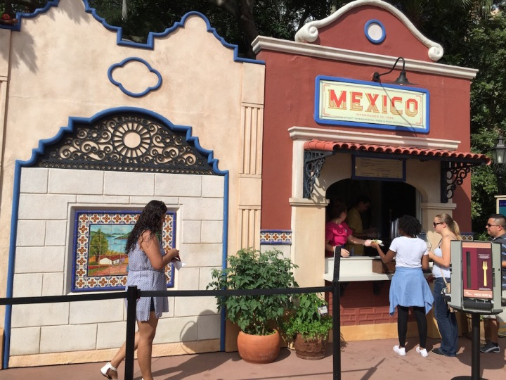 Mexico's booth for the Epcot Food and Wine festival