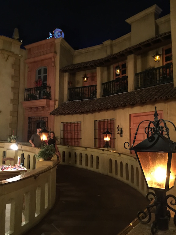 """More of the """"buildings"""" around the plaza"""