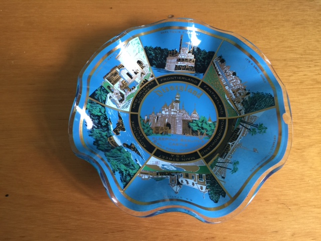 Disneyland Fluted Glass Dish Disneyland Fluted Glass Dish