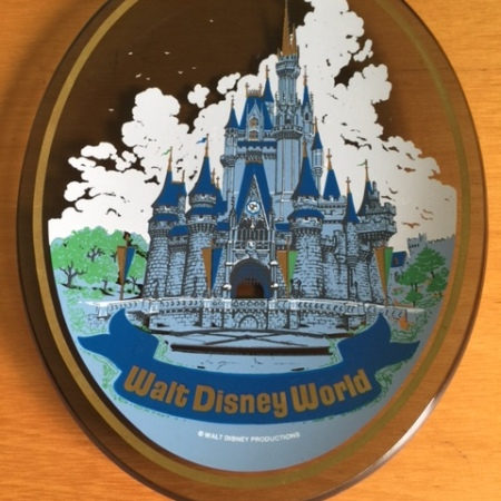 Walt Disney World Glass Plate