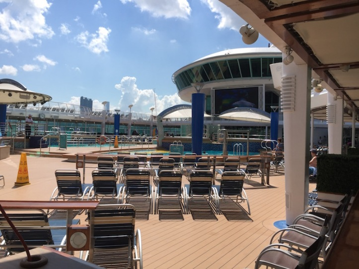 RCCL's empty pool deck