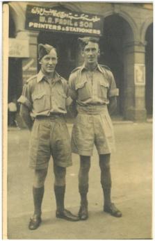 Jim Wootton and Self (Stuart Sillars) - Cairo - August 22 1943