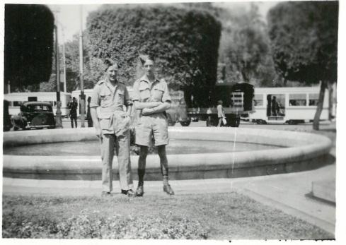 Jim Wootton (left) & Stuart Sillars - Cairo - August 1943